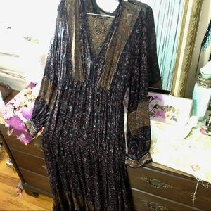 Free People Floral maxi dress NWOT